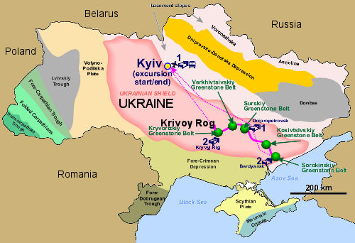 krivoy rog iron deposit decrepitation results